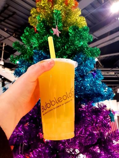 Bubbleology Mango Tea with Lychee Boba (1)